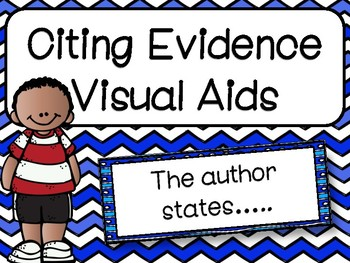 Citing Evidence Sentence Starters: Visual Aids