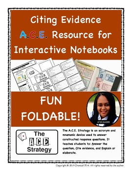 Citing Evidence A.C.E. Resource for Interactive Notebooks