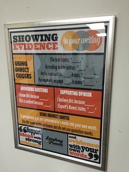 Citing Evidence Anchor Chart Poster (Digital Download)