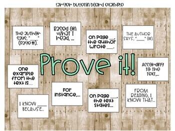 Citing Evidence - Bulletin Board