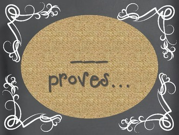Citing Evidence Chalkboard and Burlap