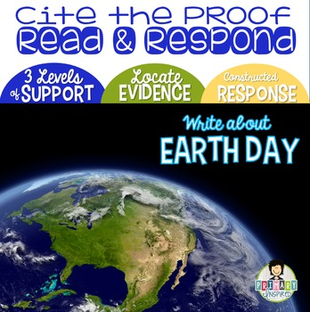 Citing Evidence *Constructed Response EARTH DAY* FREEBIE