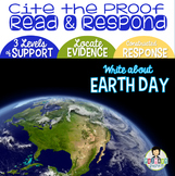 Constructed Response with Text Evidence EARTH DAY* FREEBIE