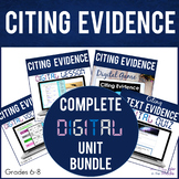 Citing Evidence DIGITAL Bundle   Vocabulary  Guided Notes