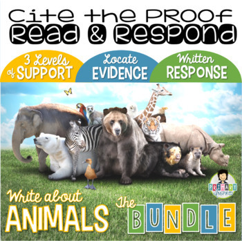 Citing Evidence *Differentiated Constructed Response *Animals GROWING BUNDLE*