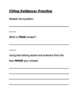 Citing Evidence Guide