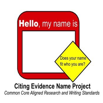 Citing Evidence - Name Project