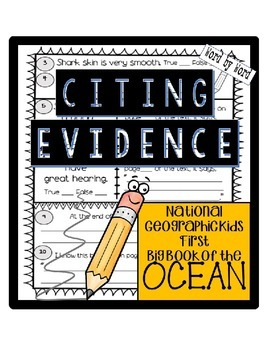 Citing Evidence Nonfiction Response National Geo Kids First Big Book: OCEAN
