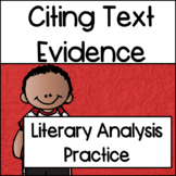 Reading:Citing Evidence/Answering Open Ended Questions