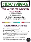 Citing Evidence Poster FREEBIE