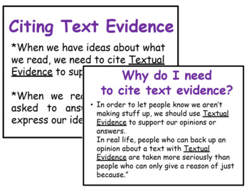 Citing Evidence Power Point