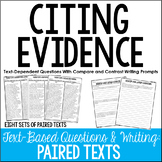Citing Evidence Practice | Text Based Writing (Compare and Contrast)