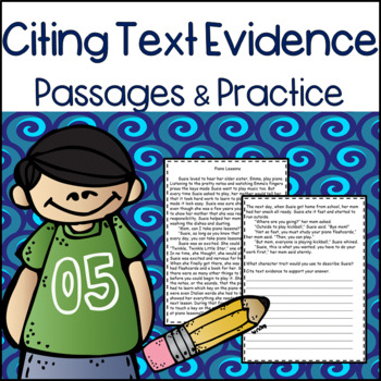 Citing Evidence: Practice Passages with Open Ended Responses