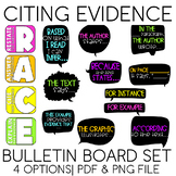 Citing Evidence [RACE(S), ACE, RAP] Bulletin Board Set   Posters