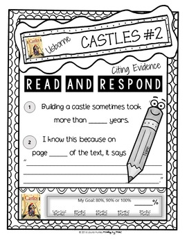 Citing Evidence Reading Response CASTLES Usborne