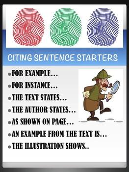 Citing Evidence Sentence Starters