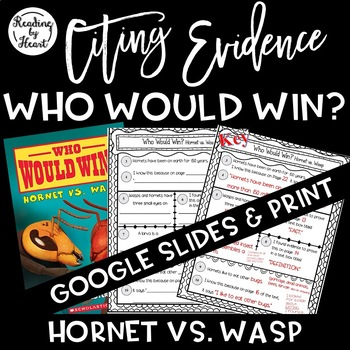 Citing Evidence Nonfiction Response Who Would Win? Hornet