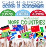 Constructed Response with Text Evidence *MORE Countries