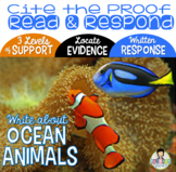 Constructed Response with Text Evidence *Ocean Animals