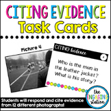 12 Citing Evidence from Photographs Task Cards