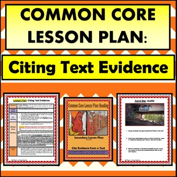Citing Evidence from a Text