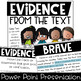 Choosing & Citing Evidence from the Text {an Introduction & Practice Activity}