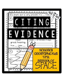 Citing Evidence National Geographic Kids First Big Book of SPACE Nonfiction