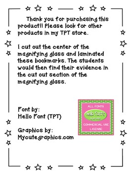 Citing Evidence in Text bookmark