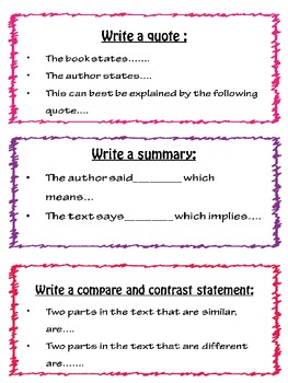 different sentence starters