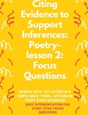 Citing Evidence to Support Inferences in Poetry: StudySync