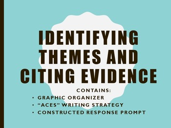 FOR ANY NOVEL Citing Evidence/ Theme/Graphic Organizer/Con