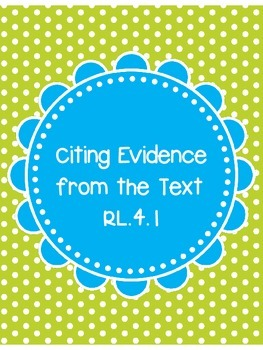 Citing Examples from Text