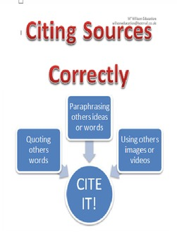 Citing Sources Correctly