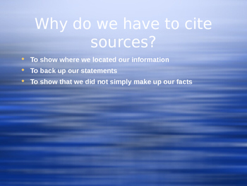 Citing Sources Powerpoint