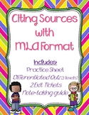 Citing Sources in MLA Format