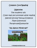 Citing Text, Annotating, Inference, Paraphrase: Entire Unit: All About Minecraft