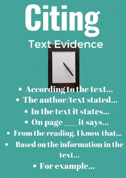 Citing Text Evidence