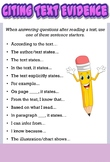 Citing Text Evidence Anchor Chart