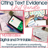 Citing Text Evidence BUNDLE & Citing Evidence Game - Dista