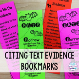 FREE Citing Text Evidence Bookmarks and Handouts