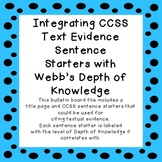 Citing Text Evidence: Integrating CCSS Sentence Starters with DoK