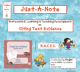 Citing Text Evidence Just-A-Note