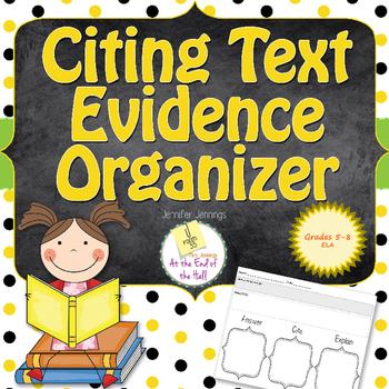 Citing Text Evidence Organizer