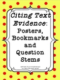 Citing Text Evidence: Posters, Bookmarks, and Question Stems