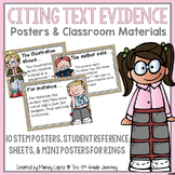 Citing Text Evidence Posters & Classroom Materials