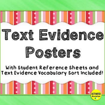 Citing Text Evidence Posters