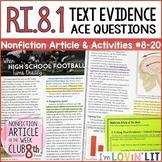 Citing Text Evidence RI.8.1 | High School Football Turns D