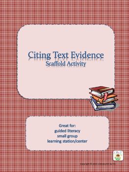 Citing Text Evidence Scaffold Activity
