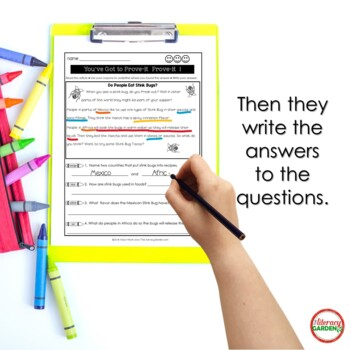 Citing Text Evidence {Set 1}