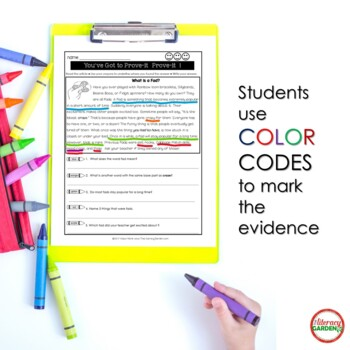 Citing Text Evidence {Set 2}